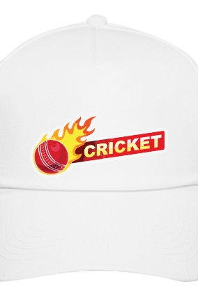 Cricket Ball White Cap