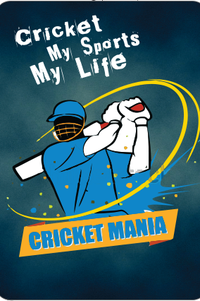 Crazy For Cricket Playing Cards