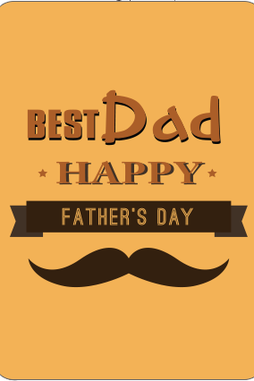Best Dad  Fathers Day Playing Cards