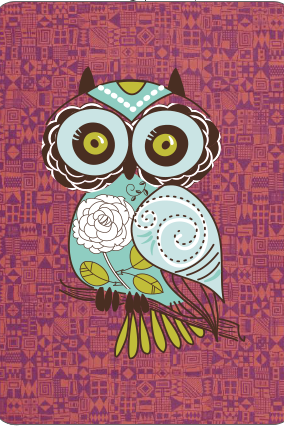 The Owl Playing Card