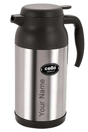 Cello Armour 1600 Ml Flask (Silver)