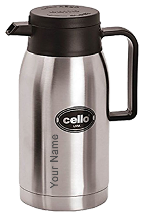 Cello Livia 1000 Ml Flask (Silver)