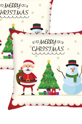 Christmas Happiness Cushion Cover
