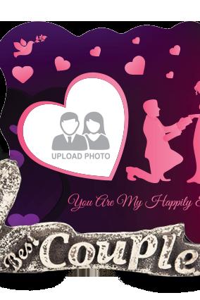 Adorable Wedding Couple Photo Frame