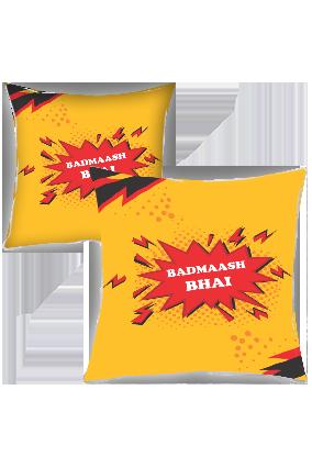 Badmaash Bhai Polyester Cushion Cover