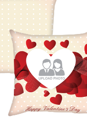 Heartful Valentines Day Cushion Cover