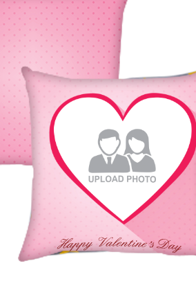 Big Heart Valentines Day Cushion Cover