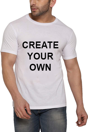 Create Your Own  Offer T-Shirt -  White Round Neck Drifit Half Sleeve Men T-Shirt