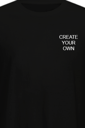 Promotional Create Your Own Logo Black Cotton Crew Neck T-Shirt