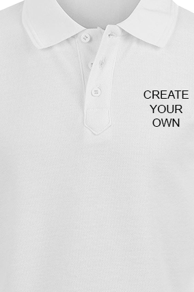 Create Your Own White Cotton Polo T-Shirt
