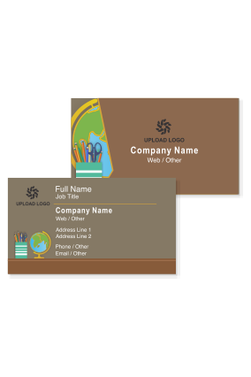 Educational visiting card design templates print tutor business customize now colourmoves