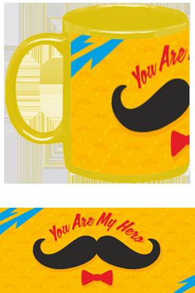 You Are My Hero Yellow Patch Mug
