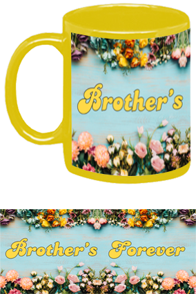 Customized Brother's Forever Yellow Patch Mug