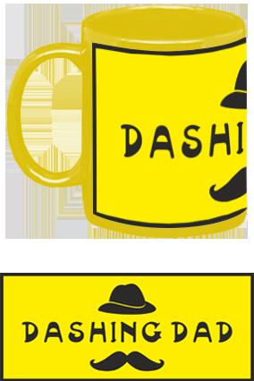 Awesome Dashing Dad Yellow Patch Mug