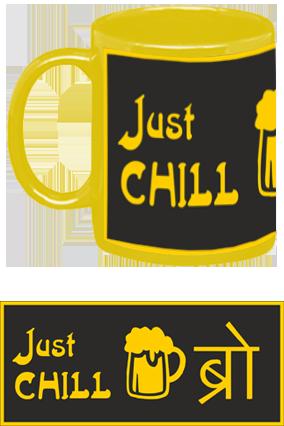 Just Chill Bro Yellow Patch Mug
