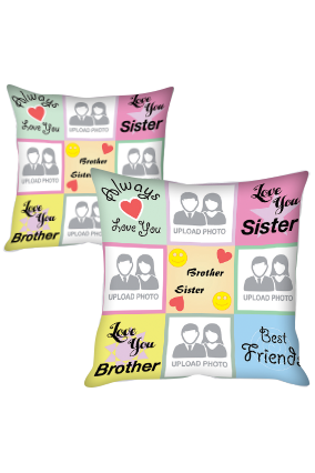 Brother & Sister Best Friend Polyester Cushion Cover