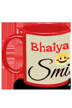 Bhaiya Ji Smile Red Patch Mug