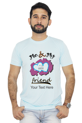Personalized Me and My Friends Dri fit Sky Blue T-shirt