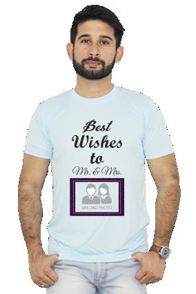 Best Wishes Dri fit Sky Blue T-shirt
