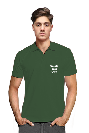 Create Your Own V Club Collar Green T-Shirts