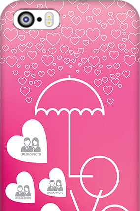 Apple I Phone 5 Pink Colored Valentine's Day Mobile Cover