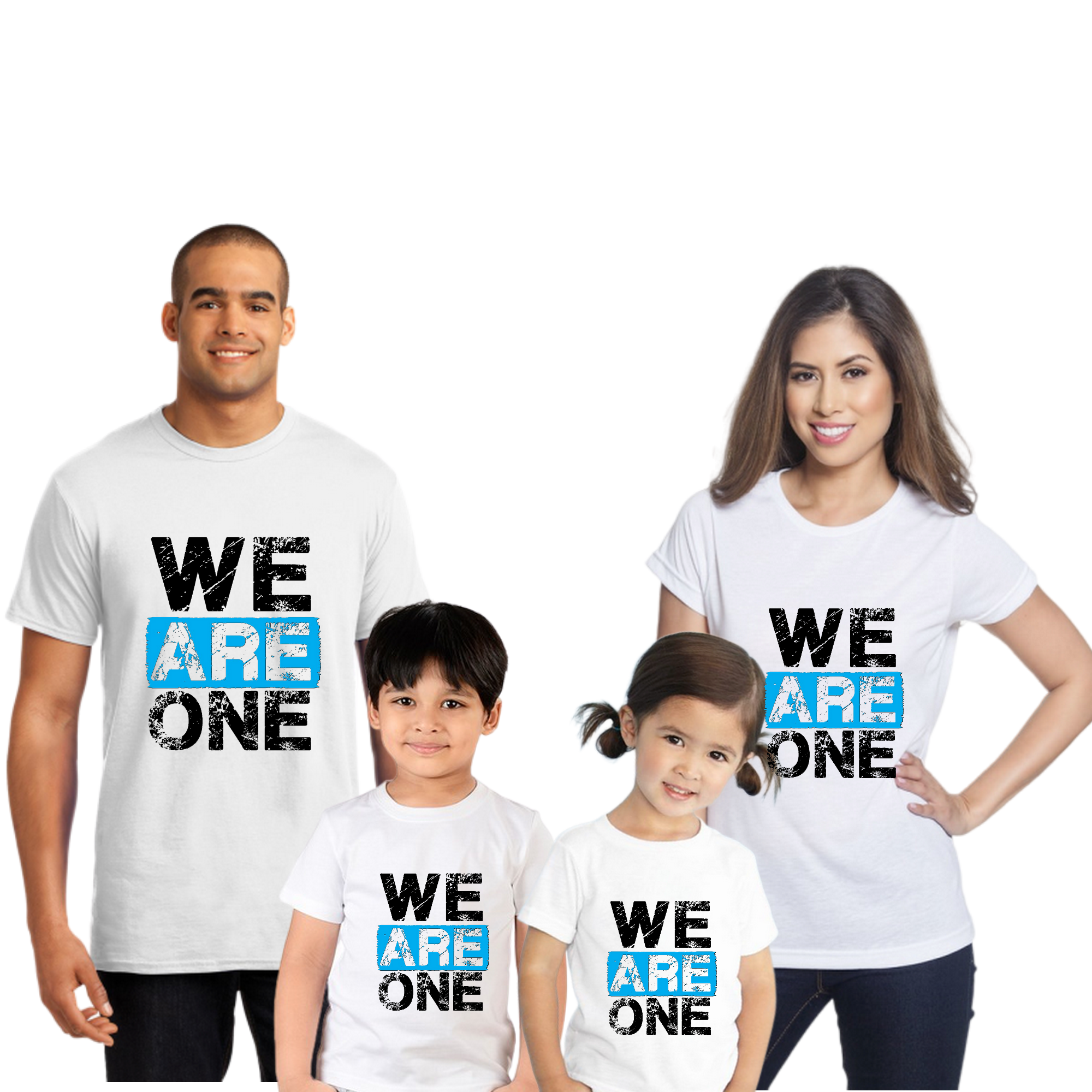 We Are One Family Combo Half Sleeve T-Shirt