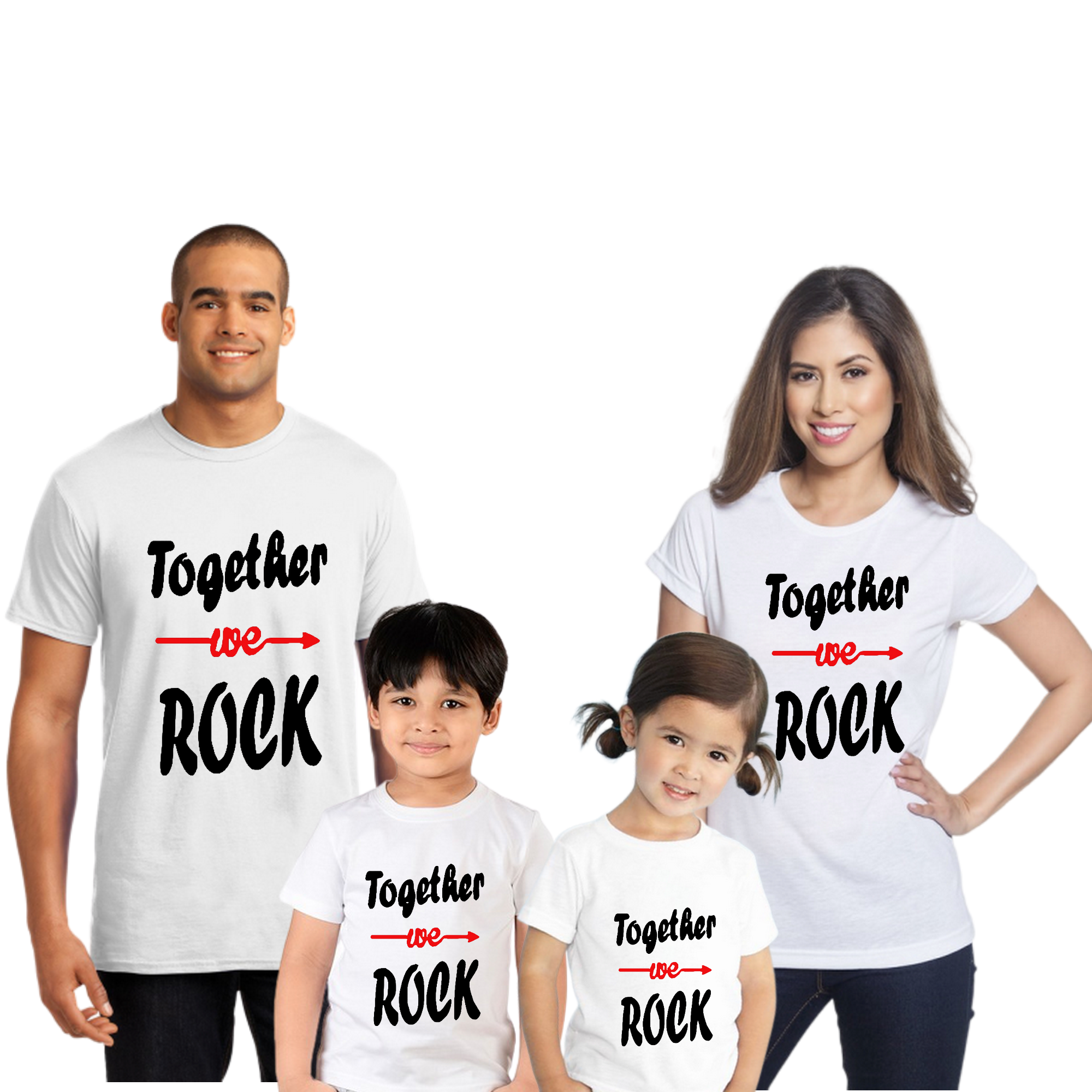 Together We Rock Family Combo Half Sleeve T-Shirt