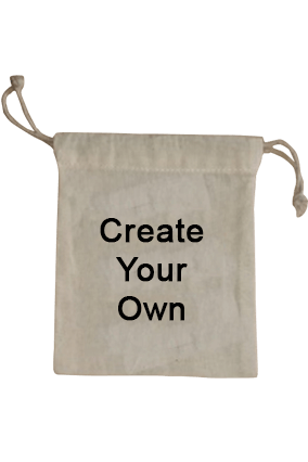 Create Your Own Drawstring Cotton Pouch 5.5X4.9 Tote Bag