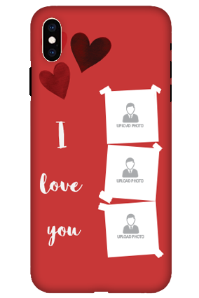 Personalized 3D-Apple iPhone XS Max Beautiful Hearts Customized Mobile Cover