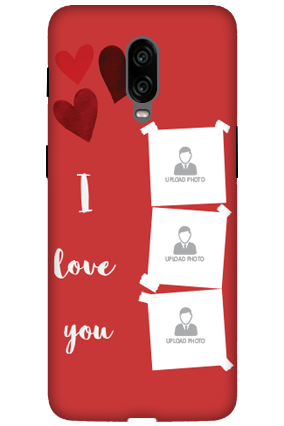3D-Oneplus 6T Beautiful Hearts Customized Mobile Cover