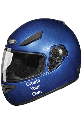 Create Your Own Studds Rhyno Flame Blue Helmet