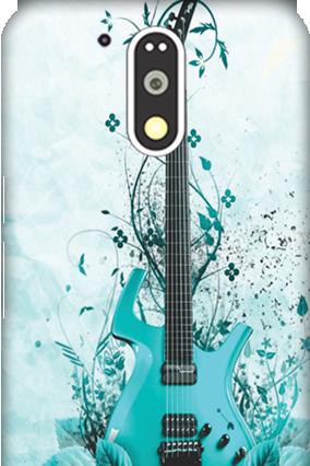 3D Motorola Moto G4 Plus Blue Guitar Mobile Cover