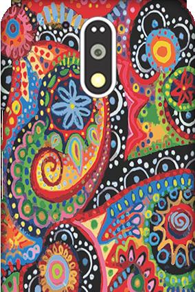 3D Motorola Moto G4 Plus Colorful Mobile Cover