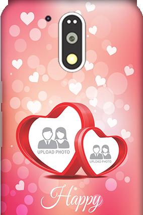 3D Motorola Moto G4 Plus Floral Hearts Anniversary Mobile Cover