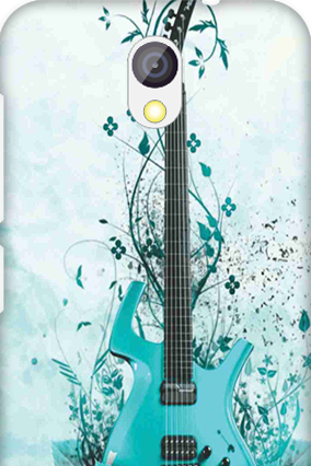 Transparent Silicon - Blue Guitar HTC Desire 526G Plus Mobile Cover