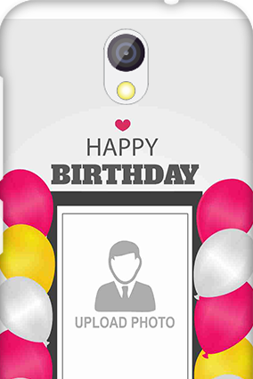 Transparent Silicon - Birthday Greetings HTC Desire 526G Plus Mobile Cover