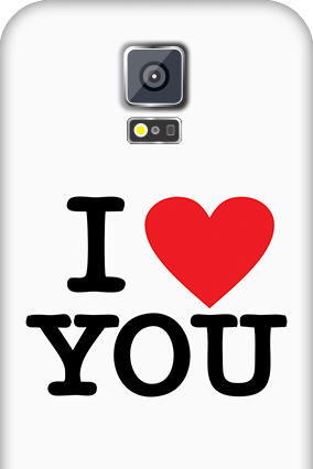 Samsung Galaxy S5 I Love You Valentine's Day Mobile Cover