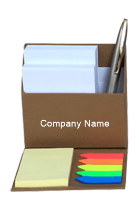 Brown Smart Table Top with Slips & Sticky Notes GBI 1024