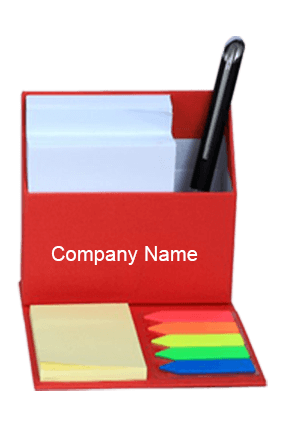 Red Smart Table Top with Slips & Sticky Notes GBI 1025