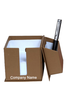 Brown Utility Box With Slips & Sticky Notes GBI 1026