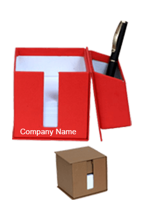 Red Utility Box With Slips & Sticky Notes GBI 1027
