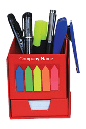 Red Multi utility Box with Slip Rack & Sticky Notes GBI 1028