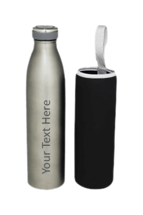 Double Wall Vacuum Bottle with Cover 700ml