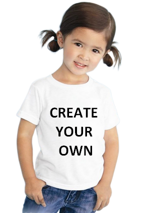 Create Your Own White Round Neck Cotton Half Sleeve Kids T-Shirt