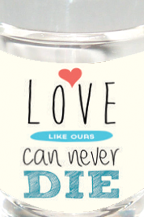 Love Never Dies Shot Glass