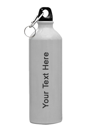 White Sublimation Sports Bottle (750Ml) Silver-GM-007