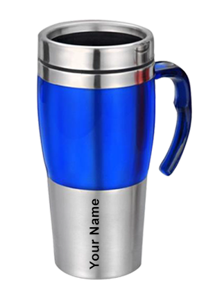 Dual Steel Mug (480 Ml) Sky Blue With Grey-GM-010