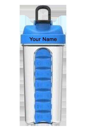 Pill Organiser Gym Shaker (700 Ml) Sky Blue-GM-238