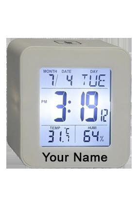 Elegant Square Clock Grey GM-253
