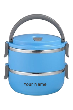Double Layer Lunch Box Sky Blue-GM-318